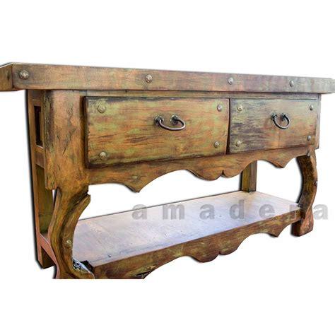 console en pin mobilier mexicain console deux tiroirs en pin fabrication