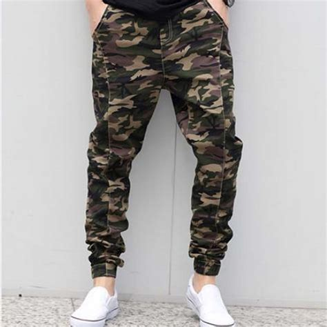 Camouflage Harem free shipping 2017 new low rise