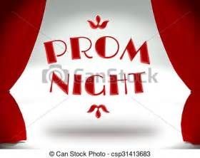 Prom night on theater stage with red curtains csp31413683