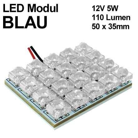 12v led modul blau 50x35mm 12v led