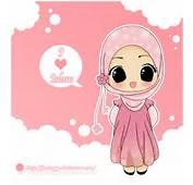 Cartoon Muslim Girl Love On Drawings
