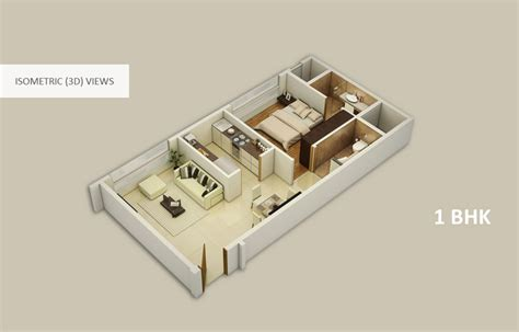 Home Design For 450 Sq Ft by Fascinating Home Plan 3d 1bhk Ideas Best Inspiration