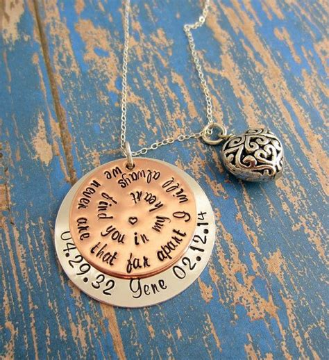 memorial jewelry gift for loss of loved one in loving