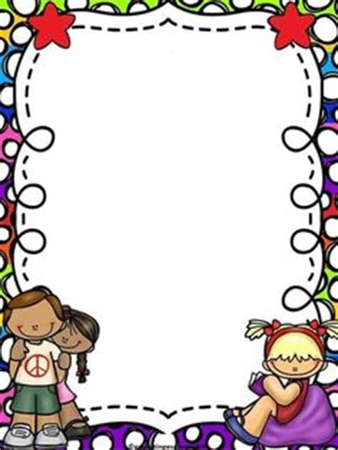 Lukisan Doodle A4 Colour Tidak Background Frame school page borders black and white borders clipart black page borders clip