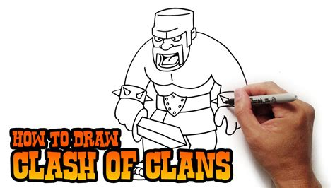 tutorial menggambar coc how to draw barbarian clash of clans video lesson youtube