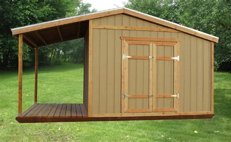 Shed With Porch Plans by Easy To Build Shed Plans Part 2