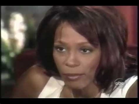 whitney houston and diane sawyer interview whitney houston says quot she doesn t do crack quot in a 2002