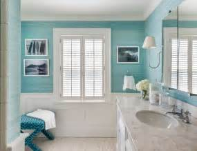 turquoise bathroom ideas cottage bathroom with turquoise grasscloth and wainscoting
