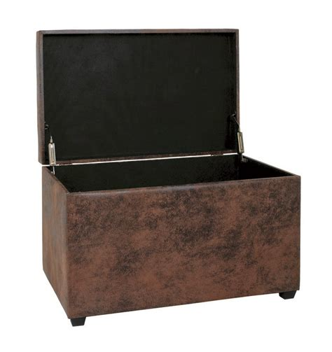 Brown Storage Ottoman Ottoman Brown Storage Bench 30886