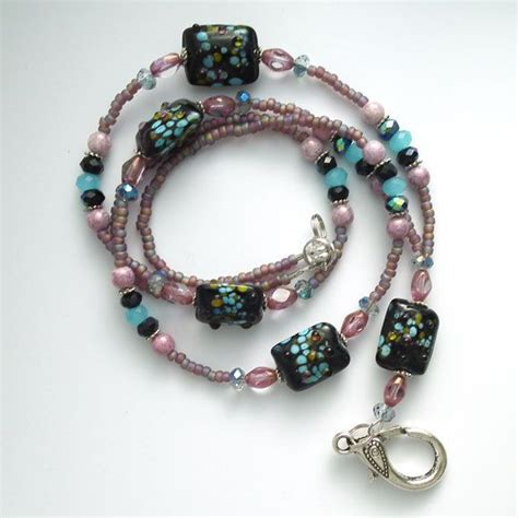 how to bead a lanyard 166 best beaded id badge lanyards images on