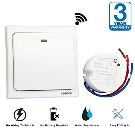 colemeter wireless light switch kit acegoo wireless lights switch kit no battery no wiring