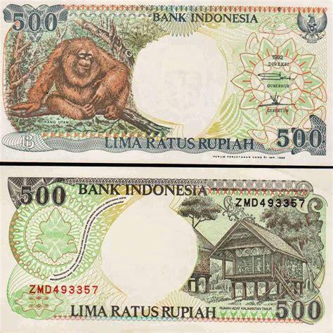 Uang Lama Pecahan 500 Orangutan bank indonesia tetapkan waktu penukaran uang pecahan lama