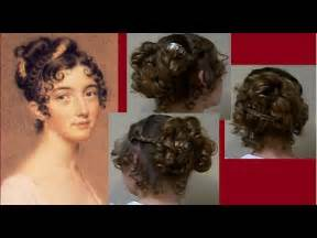 hair style of 1800 ball party fancy regency era hairstyle tutorial long hair