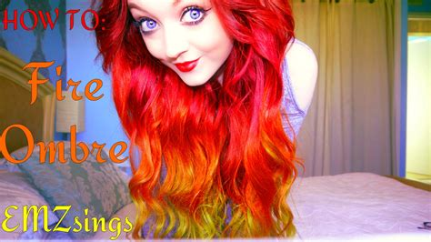 how to put red hair in on the dide with 27 pieceyoutube how to fire ombr 233 hair dye tutorial how i put my