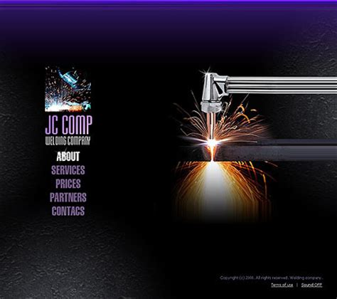 welding company flash website template best website