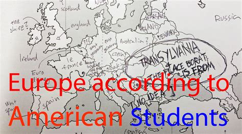 us map labeled by foreigners europe according to american students americans were