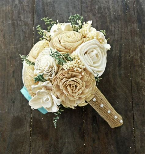 Handmade Bouquet - custom handmade alternative sola flower wedding bouquet