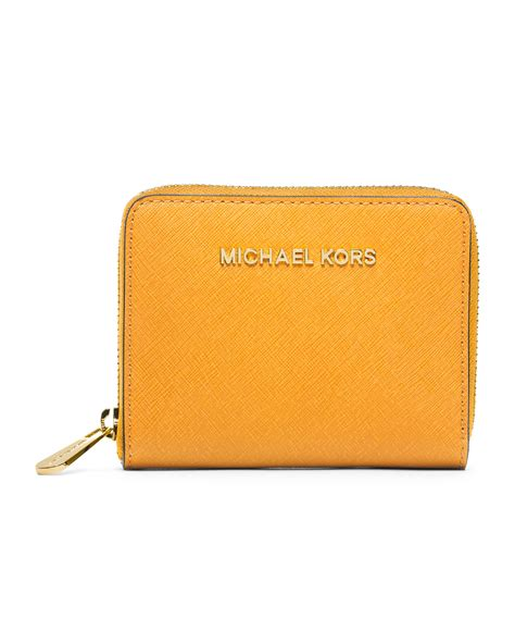 Mk Zipper Wallet Dompet Resleting Mk lyst michael kors michael medium jet set travel ziparound wallet in orange