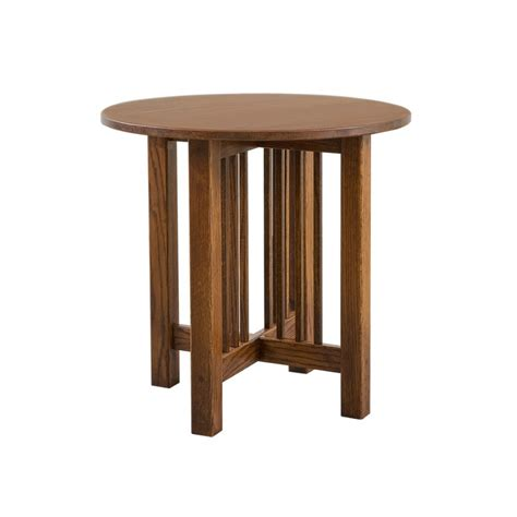 mission accent table mission round end table amish mission round end table