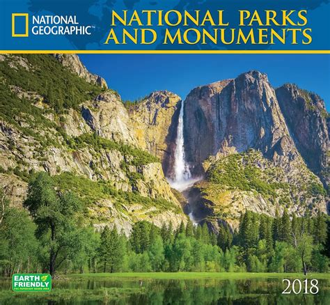 Calendar 2018 National Geographic 2018 National Geographic National Parks Monuments Wall