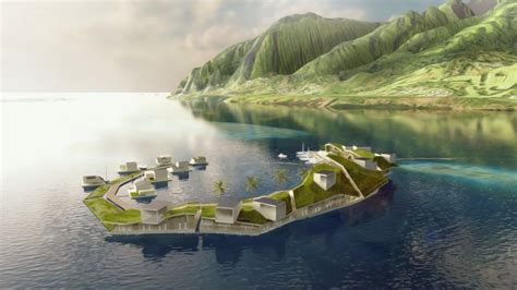 A Floating City designs for the floating city planned by the seasteading