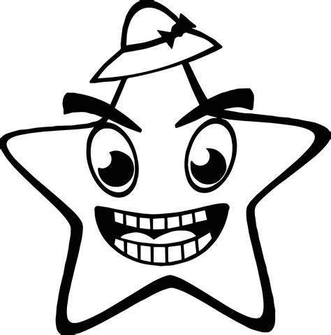 happy star coloring page on hat happy star coloring page wecoloringpage
