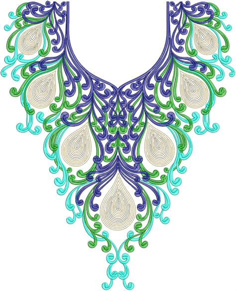 Neck Design In Embroidery | embdesigntube hot collection of neck embroidery design