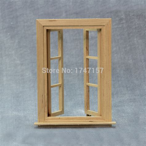 doll house window 2pcs lot diy doll house window 1 12 scale wood miniature dollhouse furniture