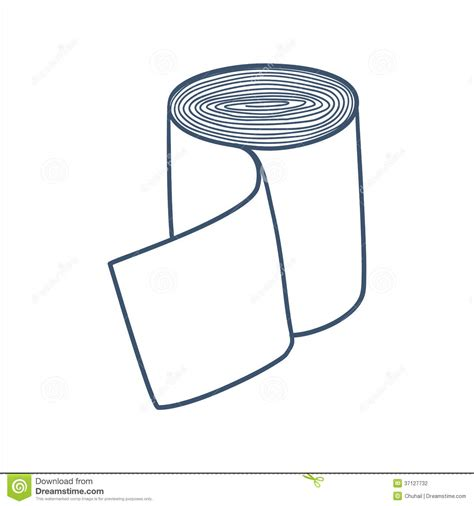 Perban Bandage Clipart bandage roll isolated on white stock vector