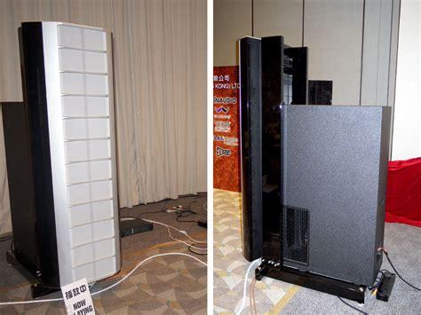 Speaker Wisdom wisdom audio sts based speaker hong kong high end audio visual show 2012 www theaudiobeat