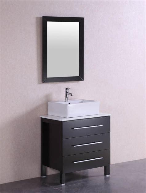 larry 28 inch modern espresso bathroom vanity w stone