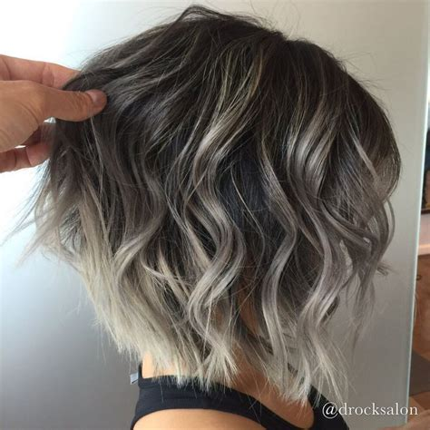 silver highlighted hair styles best 25 short silver hair ideas on pinterest grey bob