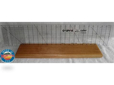quilting ruler holder 7 slot solid mahogany 0804201306