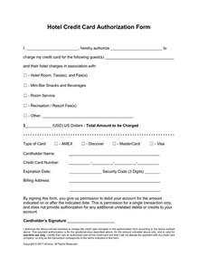 Hotel Credit Card Authorization Form Template by Doc 608792 Credit Card Authorization Form