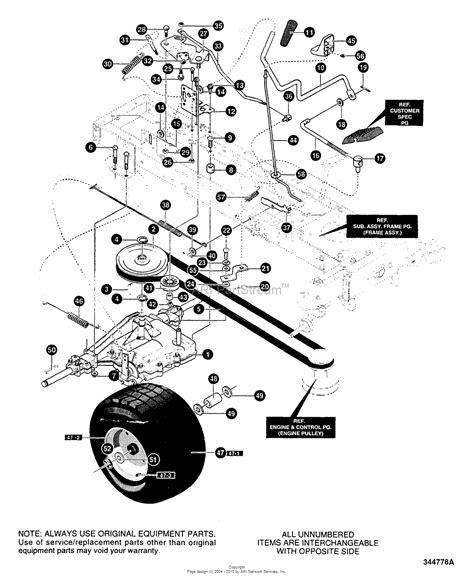murray lawn tractor parts diagram murray 42502x8c lawn tractor 2000 parts diagram for