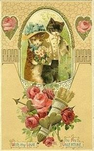images  cats  cards  pinterest kittens vintage christmas  postcards