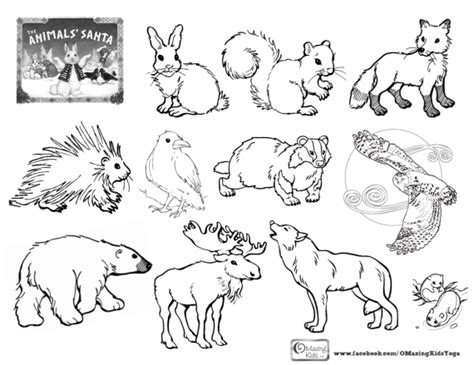 coloring pages animals in winter winter omazing