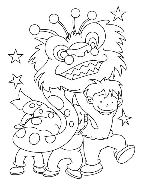 dragon dance coloring page dragon dance party coloring page download free dragon