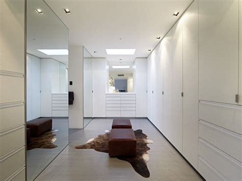 Large Walk In Wardrobes by All White With Mirrors For This Large Walk In Robe