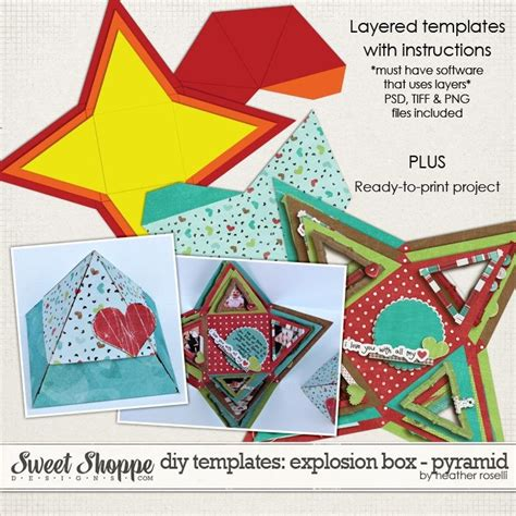 pyraid exploding box card template 17 best images about diy paper mini albums on
