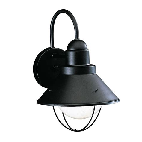 Kichler Led Outdoor Lighting Kichler 12 Inch Nautical Outdoor Wall Light With Led Bulb 9022bk 10w Led Destination Lighting