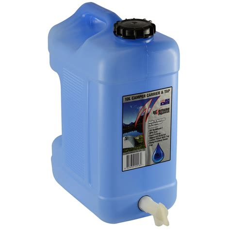 Portable Water 10l Tempat Air icon plastics 10l blue tint cer carrier with tap bunnings warehouse