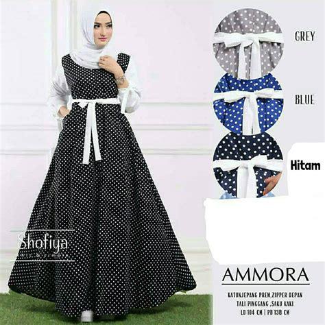 grosir pakaian wanita ammora dress grosir baju muslim