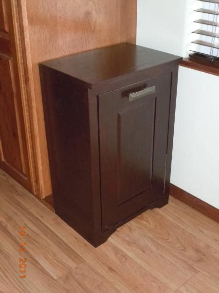 diy outdoor trash can cabinet diy tilt out garbage can d i y home decor