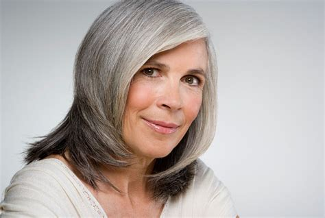 grey hair color ideas for over 60 years old woman with gray hair