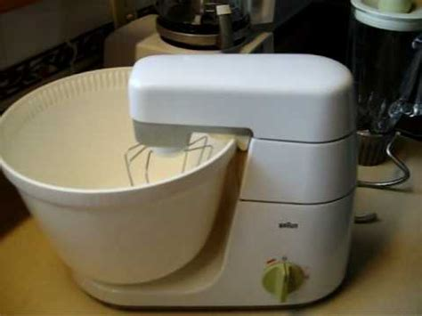 Vintage Braun KM32 kitchen center   YouTube