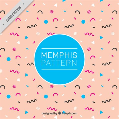 memphis pattern ai abstract memphis style pattern vector free download