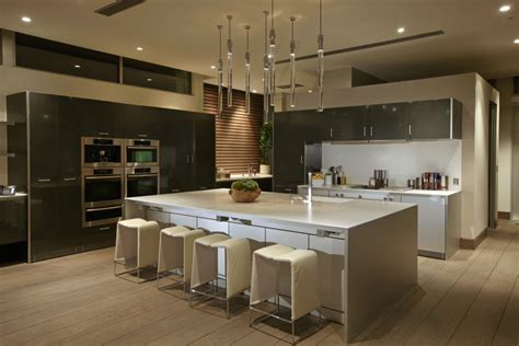 modern kitchen island design spectacular mansion on blue way by mcclean design