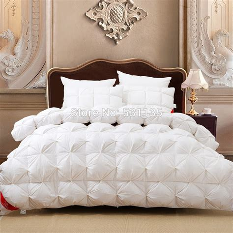 95 duck down filling white quilted winter comforter
