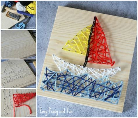 boat t top string sailboat string art for kids easy peasy and fun